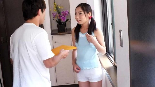 Sexy Japanese neighbor fucked in doggystyle